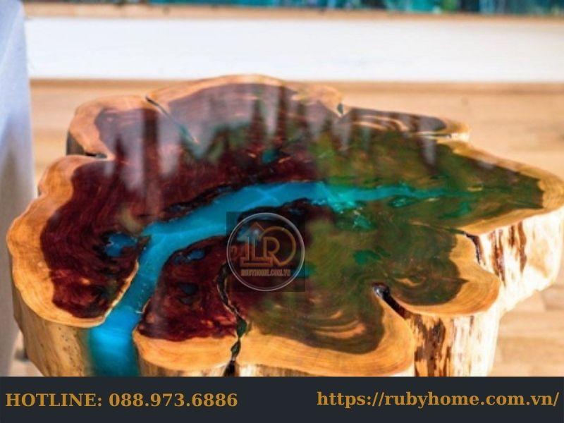 bàn gỗ epoxy gốc cây