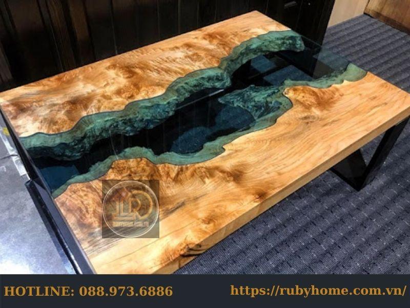 bàn epoxy phòng khách