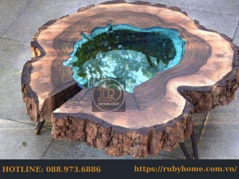 bàn gốc cây phủ keo epoxy