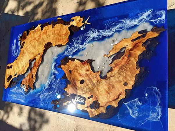 Các mẫu bàn trang trí nghệ thuật Epoxy đẹp