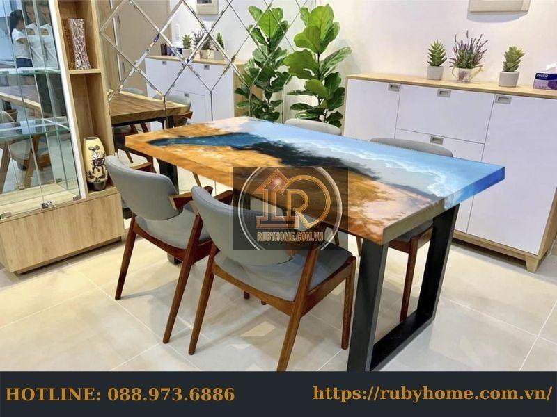 mặt bàn ăn epoxy