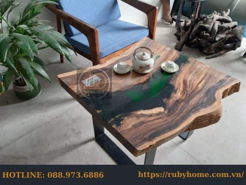 mặt bàn trà epoxy